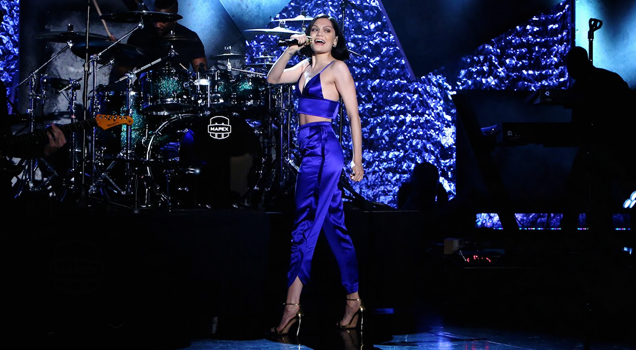 Jessie J performs Times Square New Year's Eve Ball Drop 2016 New York