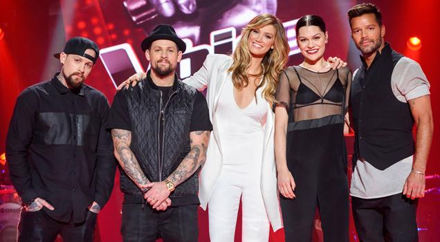 Jessie J The Voice Australia 2015 Ricky Martin Delta The Madden Brothers