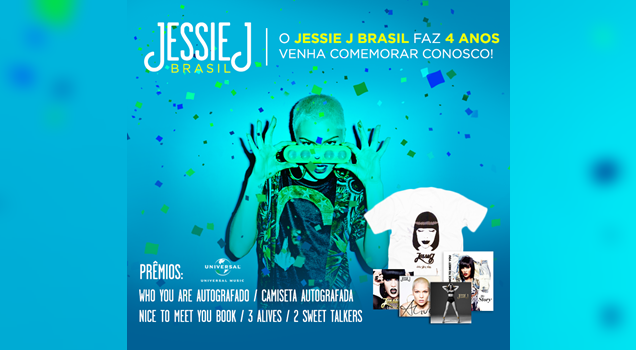 Promoção Jessie J Brasil