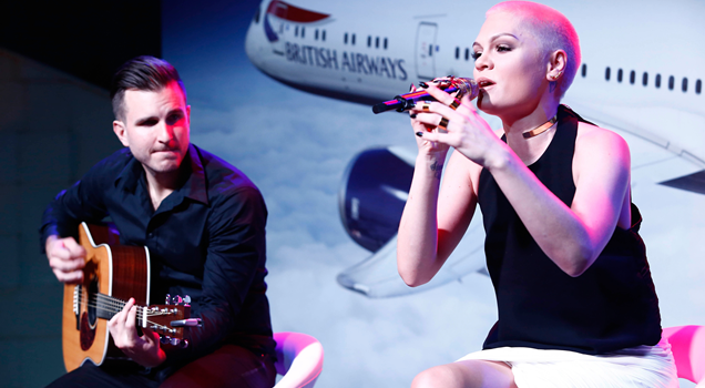 Jessie J performs British Airways Boing 787-9 Dreamliner Zaya Nurai Island Abu Dhabi United Arab Emirates