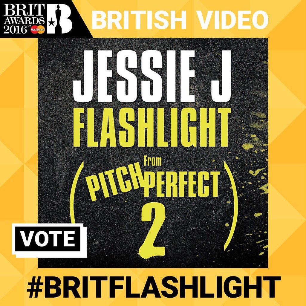 Jessie J Brit Awards 2016 British Video Flashlight #BritFlashlight